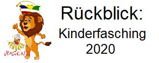 Rückblick: Kinderfasching 2020